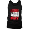 Legends Are Born In May Shirt, May Birthday T Shirts