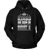 Kings Are Born On August 11 Funny Birthday Gift Shirt
