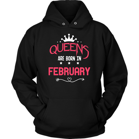 Women's Queens Are Born In February T Shirt