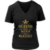 Womens Best Queens Are Born in AUGUST Gold C2 Funny T-shirt
