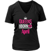 Women's Cool Birthday's Queens Shirt, QUEENS ARE BORN IN APRIL Shirt
