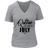 Queens Are Born In July Tee Black Girl Birthday Shirt