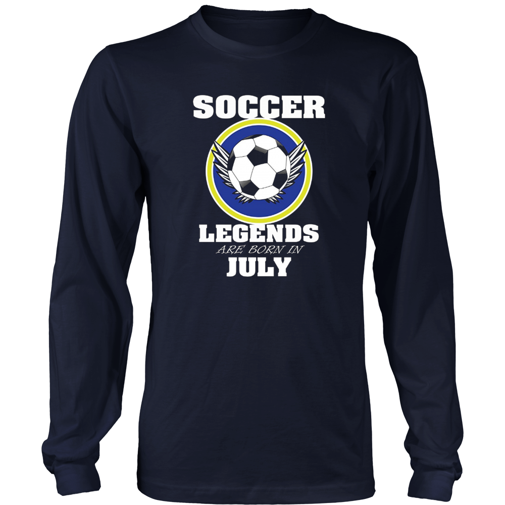 Soccer Tee Shirt Legends Are Born In July TShirts