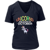 Unicorns are Born in October TShirt Dabbing Hip-Hop Pose