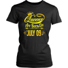 Queens Are Born On July 9 Tshirt