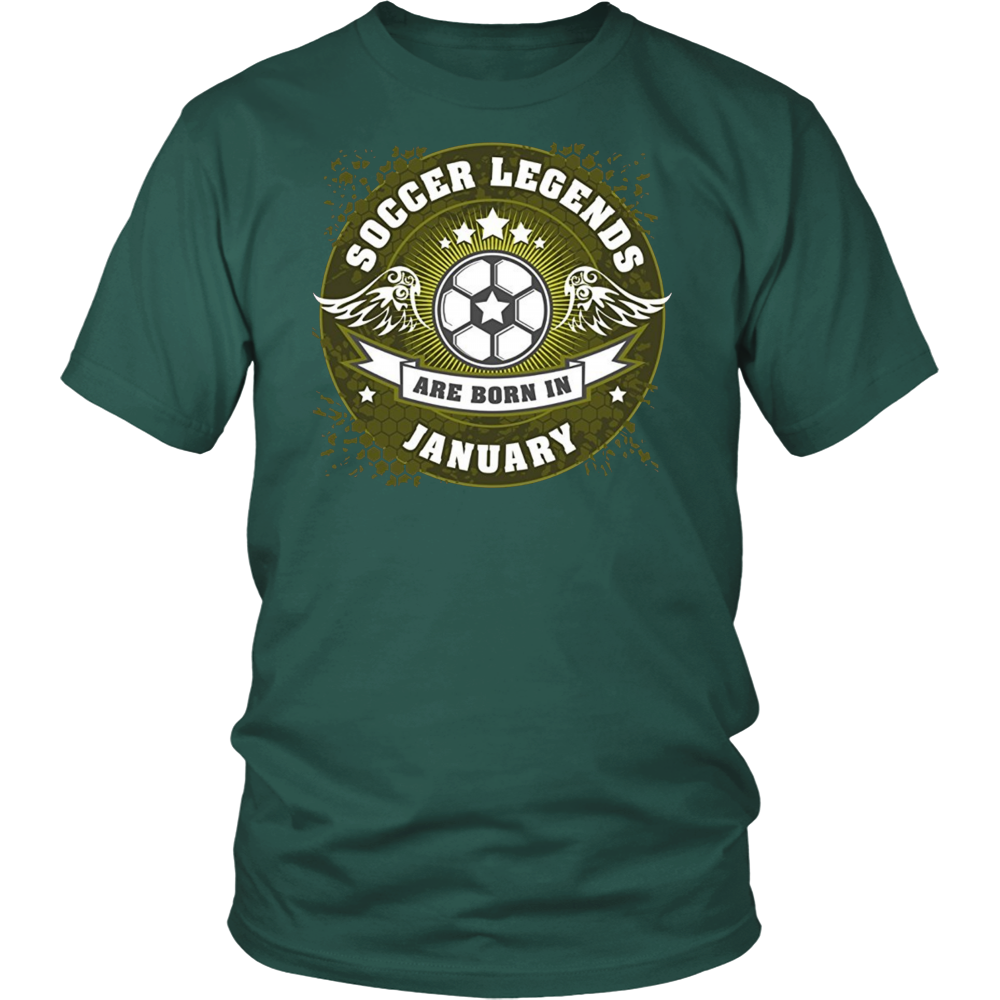 Soccer Legends are Born in January Birthday T-shirt