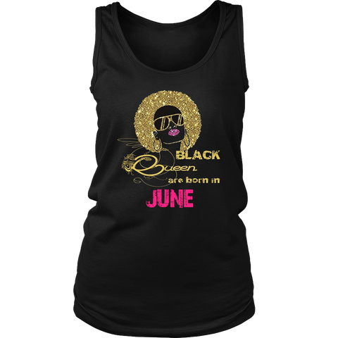 Black Queens Are Born In June T-shirt