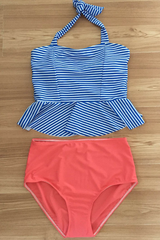 Sheinlove Cute Haltered Two Piece Swimwear