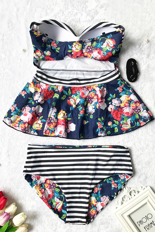 Sheinlove Floral Printing Two-piece Swimsuit