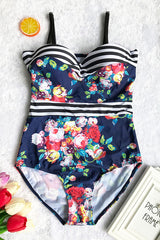 Sheinlove Floral Printing One-piece Swimsuit