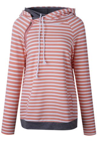 Sheinlove Women's Fashion Stripes Hoodies Jumper