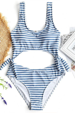Sheinlove Fresh Aroma Striped One Piece Swimwear