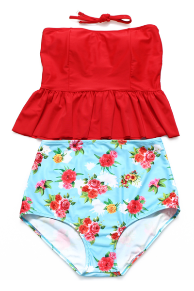 Sheinlove Haltered Two-piece Swimsuit