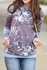 Sheinlove Flower Field Loose Fitting Casual Hoodies