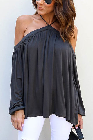 Sheinlove Fashion Off Shoulder Casual Shirt