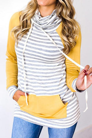 Sheinlove Leisure Striped Casual Sweater Shirt
