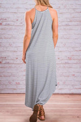 Sheinlove Asymmetric Hem Sleeveless Maxi Dress
