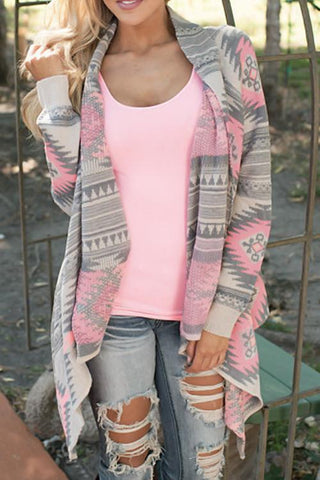 Sheinlove Ease the Day Irregular Long Sleeves Cardigans