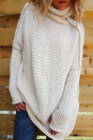 Sheinlove Turtleneck Loose Fitting Casual Sweater Shirt