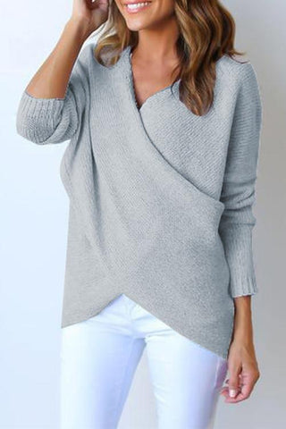 Sheinlove Guest List Cross Solid Sweater