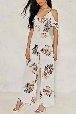 Sheinlove Floral Printing Jumpsuit