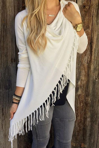 Sheinlove Out Of The Ordinary Tassel Cardigan