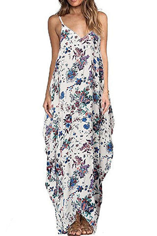 Sheinlove Floral Print Strappy Maxi Dress