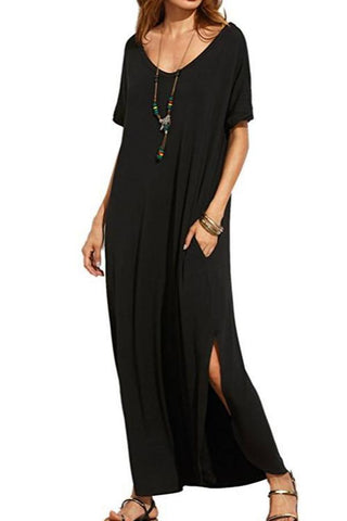 Sheinlove Short Sleeve Casual Maxi Dress