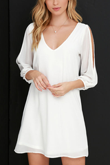 Sheinlove Fashion Open Sleeved Shirt Dress