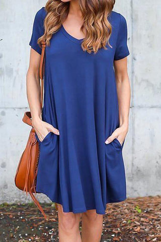 Sheinlove Solid Color Casual Loose Dress