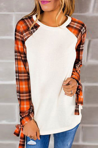 Sheinlove Plaid Sleeves Casual Shirts