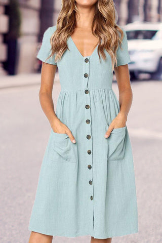Sheinlove Button Down Mid Dress