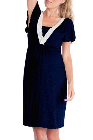 Sheinlove V Neck Maternity Dress