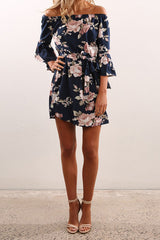 Sheinlove Off-shoulder Printing Loose Mini Dress