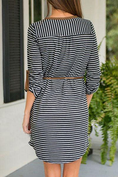 Sheinlove Stylish Long Sleeved Casual Dress