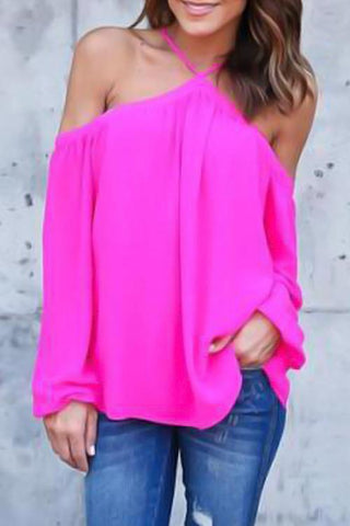 Sheinlove Off The Shoulder Loose Shirts