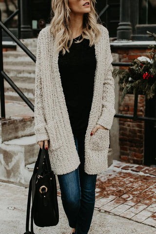 Sheinlove Solid Color Casual Sweater