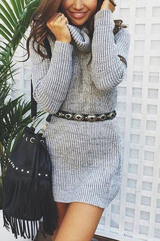 Sheinlove Lose Fitting Casual Sweater Dress
