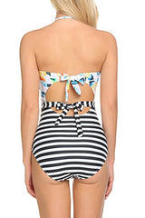 Sheinlove Printing First Love Haltered One-piece Swimsuit