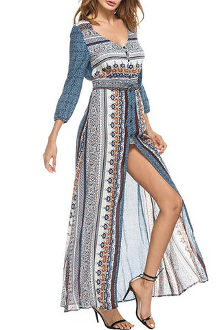 Sheinlove Long Sleeve Casual Maxi Dress