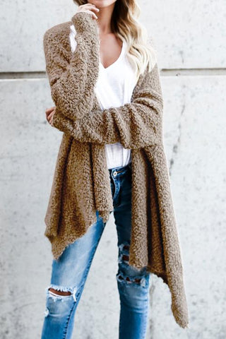 Sheinlove Long Sleeves Solid Casual Cardigan