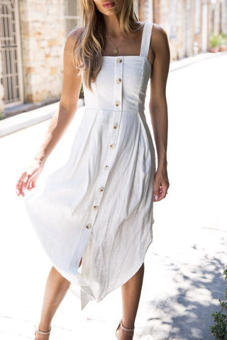 Sheinlove Button Up Casual Dress