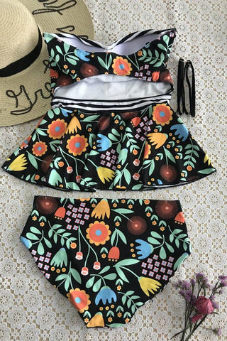 Sheinlove Floral Printing Two-piece Swimsuits
