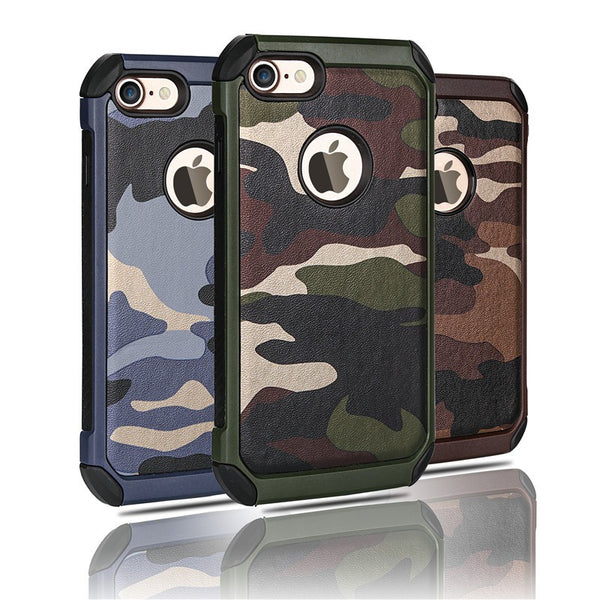 Army Camo Design Phone Cases 2 in 1  FREE