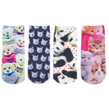 Cute Animal Charactor Socks 4 piecies