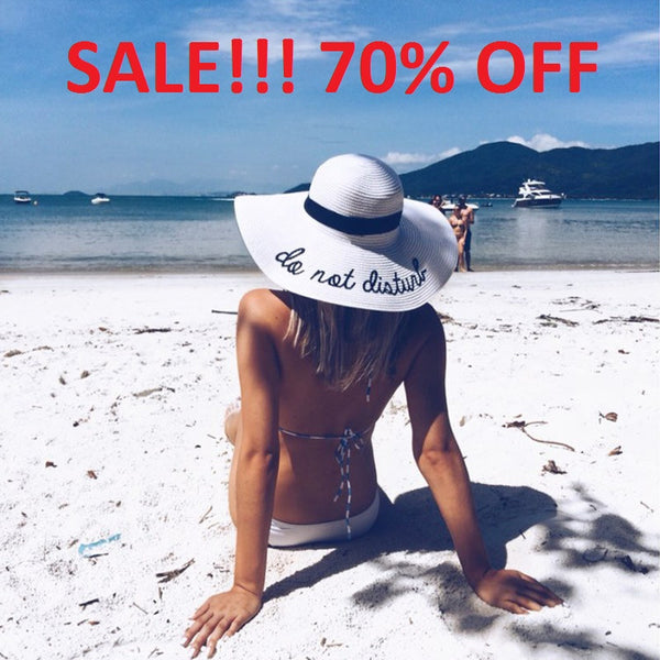 """Do Not Disturb"" Ladies Straw hat SALE 70% OFF"