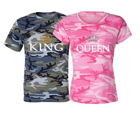 Queen & King Camouflage T-shirts