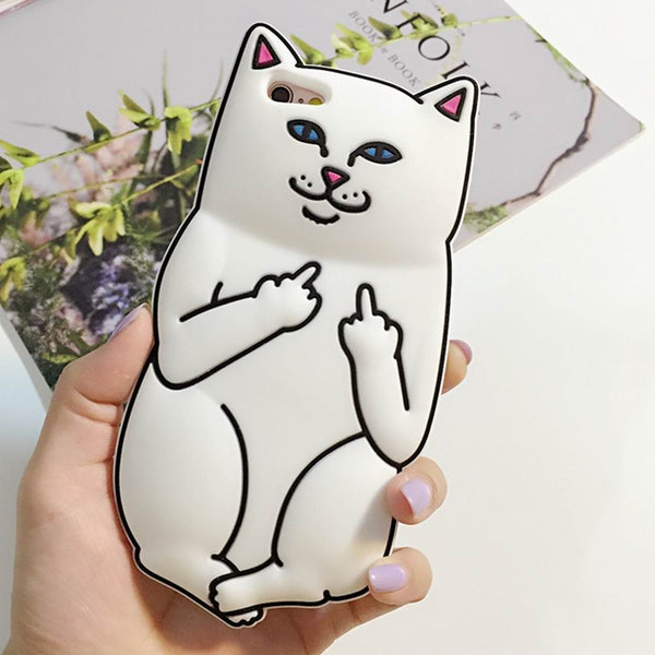 3D Funny Cat Case iPhone