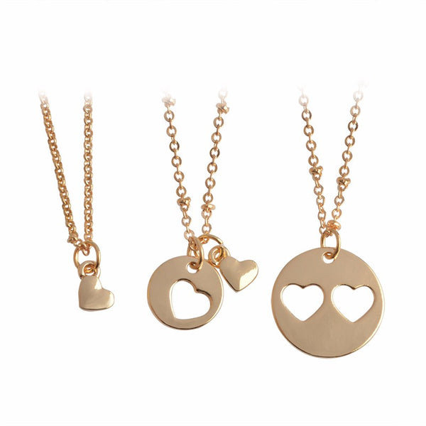 Lovely Mother Daughter Grandma Heart Necklaces