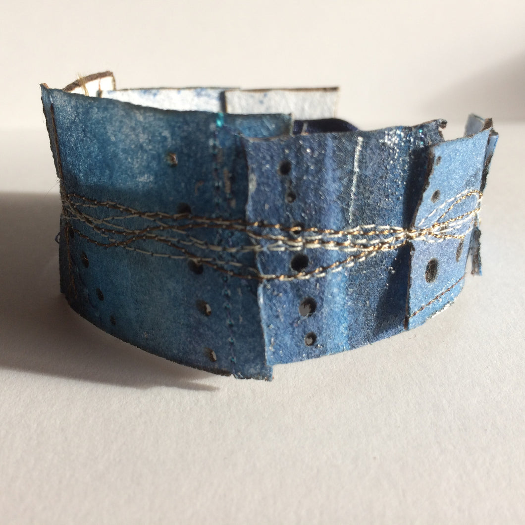 Simple Cuff Bracelet - 7.5 inch Indigo Blue